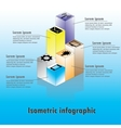 isometric infographics - with icons and text vector image