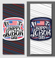 layouts for american labor day vector image