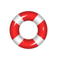 life buoy isolated on a white background vector image vector image