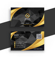 luxury business card in black and gold colors vector image vector image