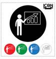 man standing presentation chart icon vector image vector image