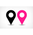 Map pins sign location icon in flat style vector image vector image