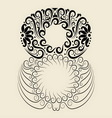 Number 8 floral decorative ornament vector image