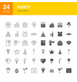 party line web glyph icons vector image