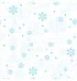 pastel blue christmas snowflakes seamless pattern vector image