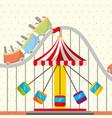 roller coaster chair carousel carnival fun fair vector image