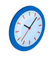 round wall clock office clock single icon in vector image vector image