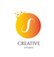 s letter logo design s icon colorful and modern vector image