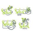 salad bar and menu logo emblems and symbols