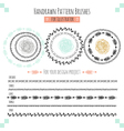 Seamless pattern hand drawn brushes vector image vector image
