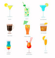 set of handmade cocktails with inscriptions vector image
