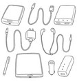 set of mobile device accessories vector image
