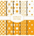 Set of yellow geometric seamless pattern with vector image vector image