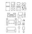 set outline icons of household appliances vector image vector image
