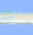 sky or heaven and water surface nature landscape vector image vector image
