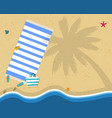 summer beach vacation holidays poster top view vector image vector image