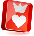 Sweetheart Icon vector image vector image