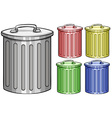 Trash cans vector image vector image
