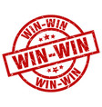 win-win round red grunge stamp vector image vector image