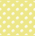 yellow and white polka dot seamless pattern vector image vector image