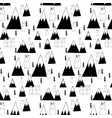 hand drawn cute bear and forest pattern vector image
