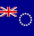 flag of cook islands new zealand avarua - vector image