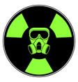isolated radioactive signal vector image
