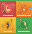 physical activity compositions set vector image