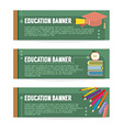 Set Of Education Banner vector image