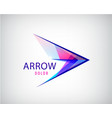 Abstract arrow play logo multicolor