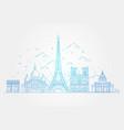 architectural landmarks paris vector image