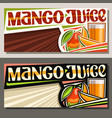 banners for mango juice vector image