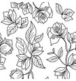 black and white acacia flower seamless pattern vector image vector image