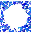 blue random heart background design - love graphic vector image vector image
