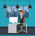 business worker in office vector image vector image