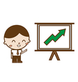businessmen pointing at a growth chart board vector image