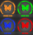 Butterfly sign icon insect symbol Fashionable vector image