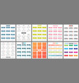 calendar 2020 wall planner calendars week starts vector image