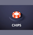 chips isometric icon isolated on color background vector image