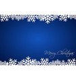 christmas blue background lined snowflakes vector image vector image