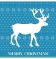 Christmas Card - Scandinavian Knit Style vector image