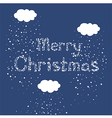Christmas Snow Fall Greeting Card vector image