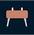 color icon gymnast vaulting horse sport vector image vector image