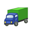 cute cartoon truck isolated vector image
