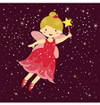 Cute Little Red Fairy vector image vector image