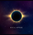 dark abstract background with a solar eclipse