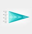 diagram concentrate pyramid elements color vector image vector image