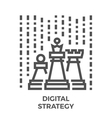 Digital strategy icon vector image vector image