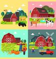 farm life cliparts vector image