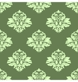 Floral seamless pattern with light green on dark vector image vector image